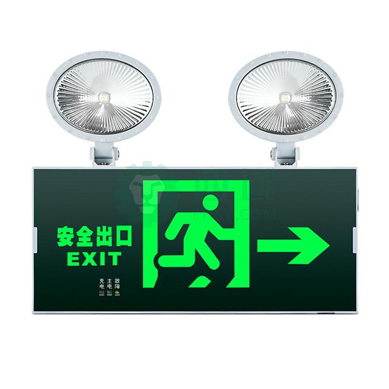π拿斯特 消防应急标志灯 防火塑料超窄边框照明标志灯 自带三线插头
