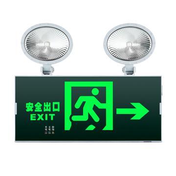 π拿斯特 消防应急标志灯 防火塑料超窄边框照明标志灯 自带三线插头 安全出口右, N-ZBLZD-1LROEⅠ12WFAO (P1729-A)