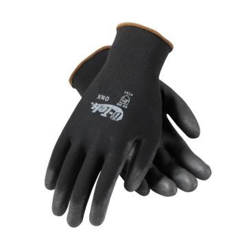 PIP涤纶PU手套,12副/袋,黑色,尺码:L