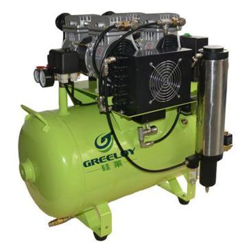 硅莱 静音无油空压机 带干燥器,排气量:236L/min,GA-62Y