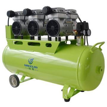 硅莱 静音无油空压机,排气量:354L/min,功率:1800W,GA-63