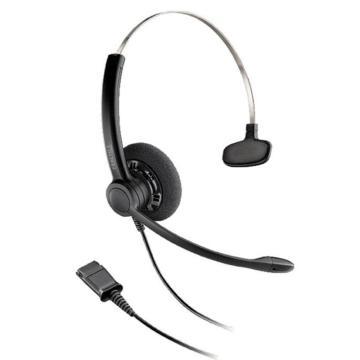 繽特力(Plantronics)專業話務員/接線員降噪耳機耳麥,自由移動 全天舒適佩戴,SP11-QD