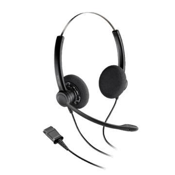 缤特力(Plantronics)SP12-QD双耳头戴式降噪耳机 免持听筒耳麦麦克风 客服中心