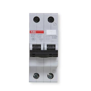 ABB 电子式AC瞬动型漏电保护断路器,GSH201 AC-C20/0.03