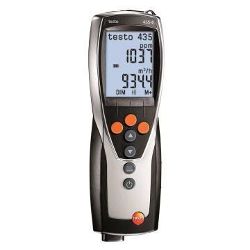 德图/Testo testo 435-3多功能测量仪,带内置压差测量,检测暖通空调系统和室内空气质量,可选配多种探头