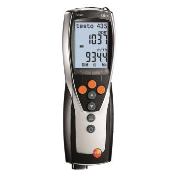 德图/Testo testo 435-1多功能测量仪, 检测暖通空调系统和室内空气质量,可选配多种探头