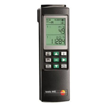德图/Testo testo 445多功能测量仪, 双通道 测量湿度/流速压力/二氧化碳/一氧化碳,探头需另配