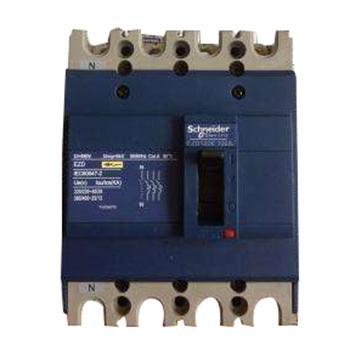 施耐德 塑壳断路器,固定式4极,EZD100E4075N