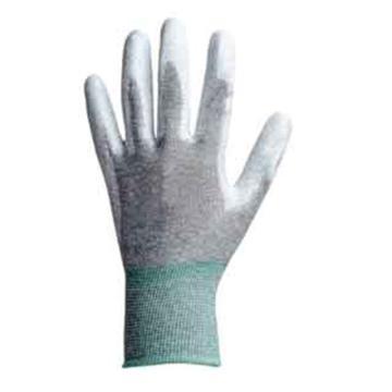 納美 防靜電手套,GW-513-L,碳纖維掌涂PU防靜電手套