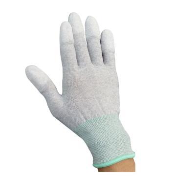 納美 防靜電手套,GW-516-M,碳纖維指涂PU防靜電手套