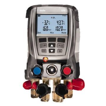 德图/Testo 套装电子歧管仪,4通路 内置40种制冷剂特性参数,testo 570-2,订货号:0563 5702
