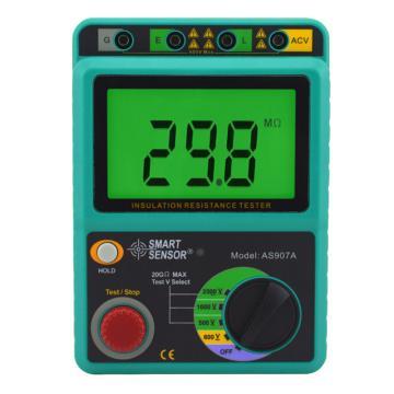 希玛/SMART SENSOR 数字兆欧表AS907A,10KΩ-20GΩ(此型号停产,替换型号是AR907A+)