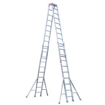 固字牌 升降人字梯,高度(M):4.1-7,承重:80KG