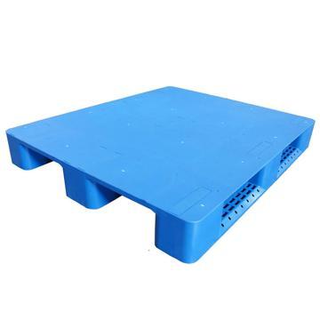 STORAGEMAID 藍色塑料托盤,平板川字 尺寸(mm):1200*1000*150 8根鋼管 動載1.5T靜載6T上貨架載重1T