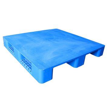 STORAGEMAID 藍色塑料托盤,平板川字 尺寸(mm):1100*1100*150 動載1T 靜載4T