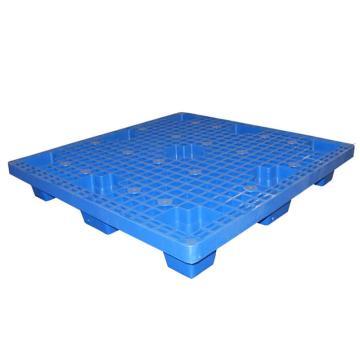STORAGEMAID 蓝色塑料托盘,网格九脚 尺寸(mm):1100*1100*145 动载0.6T 静载1.5T