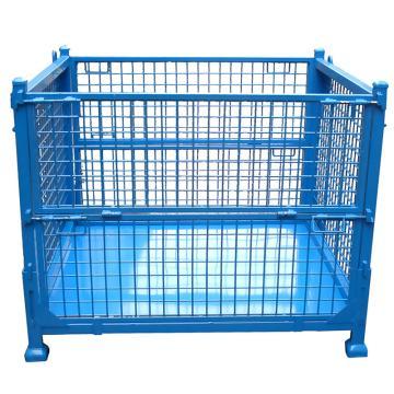 博储 折叠钢板箱,L800*W600*H600mm,1000KG,蓝色,BC-SAA01Z