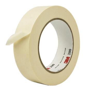 3M单面平滑美纹纸常温遮蔽胶带, 本色 宽度6mm