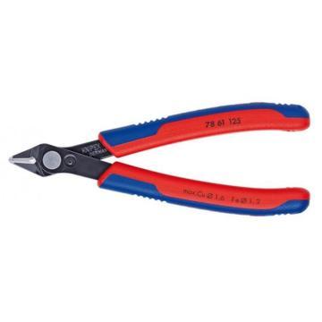 凱尼派克 Knipex 電子剪切鉗,125mm(磨光頭部雙色雙重材料手柄),78 61 125