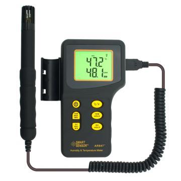 希玛/SMART SENSOR 数字式温湿度计,AR847,-10~50℃,-20~1000℃(K-type),5~98%RH