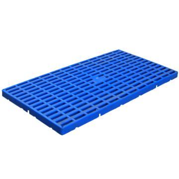 西域推荐 防潮垫仓板,全新HDPE料,尺寸(W*D*H)mm:600*300*25,蓝色,承重:1T