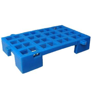 恋亚 防潮垫仓板,全新HDPE料,尺寸(W*D*H)mm:500*300*120,蓝色,承重:1T