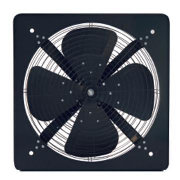 德通 方形排風扇,FAS40-4,380V,Ф400mm,帶前后網罩