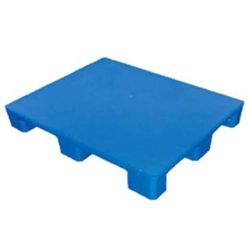 西域推荐 塑料托盘,平板九脚,尺寸(mm):1300*1300*135,蓝色,动载1T,静载4T