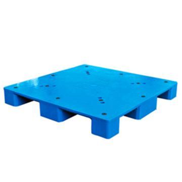 西域推薦 塑料托盤,平板九腳,尺寸(mm):1200*1000*150,藍色,動載1T,靜載4T