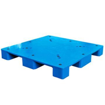 西域推荐 塑料托盘,平板九脚,尺寸(mm):1200*800*150,蓝色,动载1T,静载4T