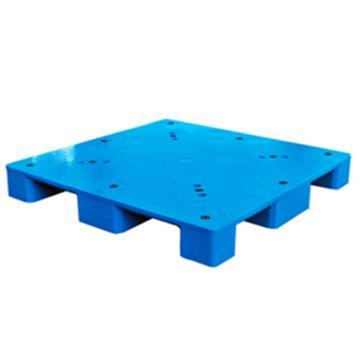 西域推荐 塑料托盘,平板九脚,尺寸(mm):1100*1100*150,蓝色,动载1T,静载4T