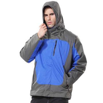 安大叔B300高级防水提花涂层布防寒服,蓝拼灰 ,尺码:XXXL