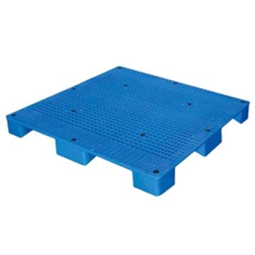 西域推荐 塑料托盘,网格九脚,尺寸(mm):1400*1400*140,蓝色,动载1T,静载4T
