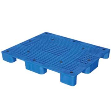 西域推荐 塑料托盘,网格九脚,尺寸(mm):1400*1100*140,蓝色,动载1T,静载4T