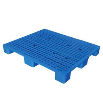 西域推荐 塑料托盘,网格九脚,尺寸(mm):1300*1300*135,蓝色,动载1T,静载4T