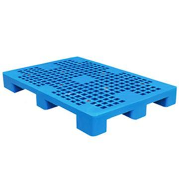 恋亚 塑料托盘,网格九脚,全新HDPE料,尺寸(W*D*H)mm:1100*1100*155,蓝色,动载1T,静载4T