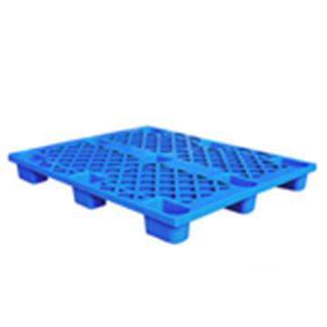 恋亚 塑料托盘,网格九脚,尺寸(mm):1000*800*145,蓝色,动载1T,静载4T