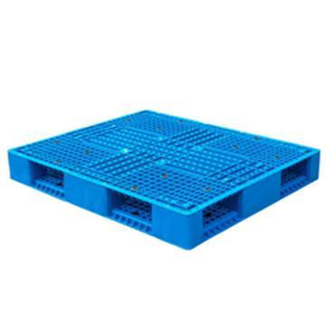 恋亚 塑料托盘,网格双面,全新HDPE料,尺寸(W*D*H)mm:1200*1200*150,蓝色,动载1.2T,静载6T,上货架载重:0.7T