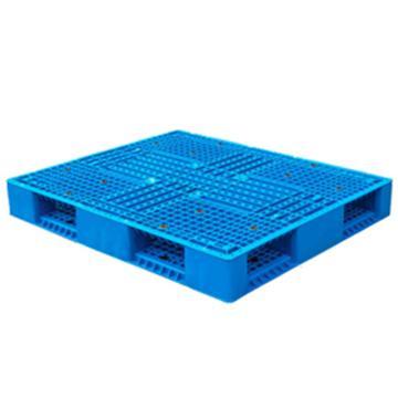 恋亚 塑料托盘,网格双面,全新HDPE料,尺寸(W*D*H)mm:1000*1000*150,蓝色,动载1.2T,静载6T,上货架载重:0.7T