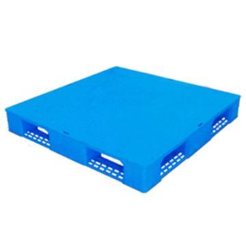 西域推荐 塑料托盘,平板田字,尺寸(mm):1300*1100*150,蓝色 动载1.2T 静载4T,上货架载重:0.7T