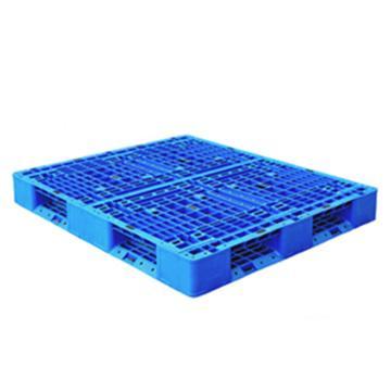 西域推薦 塑料托盤,網格田字,尺寸(mm):1200*800*150,藍色 動載1.2T 靜載4T,上貨架載重:0.7T