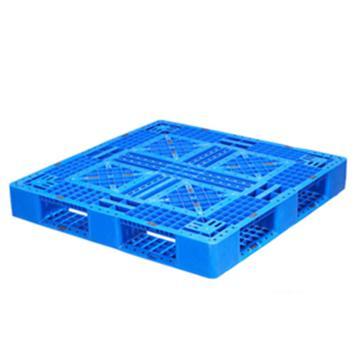 西域推荐 塑料托盘,网格田字,尺寸(mm):1100*1100*150,蓝色 动载1.2T 静载4T,上货架载重:0.7T