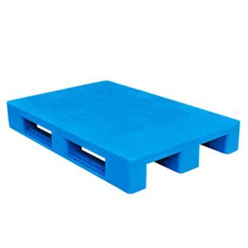 西域推荐 塑料托盘,平板川字,尺寸(mm):1200*1200*165,蓝色 动载1.2T 静载4T,上货架载重:0.7T