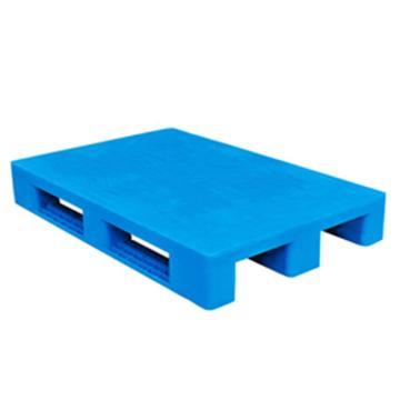 西域推荐 塑料托盘,平板川字,尺寸(mm):1200*1000*150,蓝色 动载1.2T 静载4T,上货架载重:0.7T