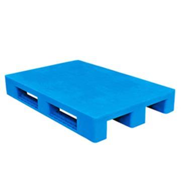 西域推荐 塑料托盘,平板川字,尺寸(mm):1100*1100*150,蓝色 动载1.2T 静载4T,上货架载重:0.7T