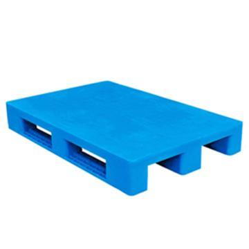 西域推荐 塑料托盘,平板川字,尺寸(mm):1100*900*150,蓝色 动载1.2T 静载4T,上货架载重:0.7T