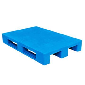 西域推荐 塑料托盘,平板川字,尺寸(mm):1000*1000*165,蓝色 动载1.2T 静载4T,上货架载重:0.7T