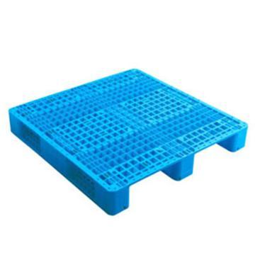 西域推荐 塑料托盘,网格川字,尺寸(mm):1300*1100*150,蓝色 动载1.2T 静载4T,上货架载重:0.7T