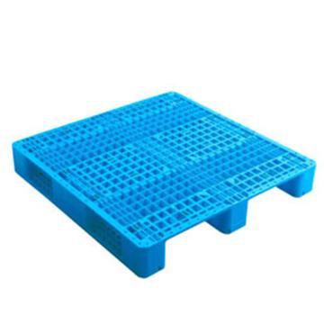 西域推荐 塑料托盘,网格川字,尺寸(mm):1200*1200*150,蓝色 动载1.2T 静载4T,上货架载重:0.7T