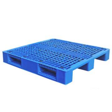 西域推荐 塑料托盘,网格川字,尺寸(mm):1100*1100*150,蓝色 动载1.2T 静载4T,上货架载重:0.7T